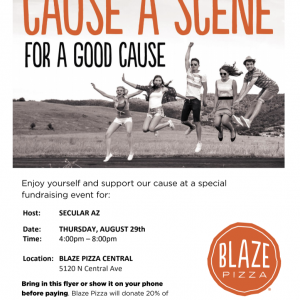 Blaze Pizza Fundraising Flyer