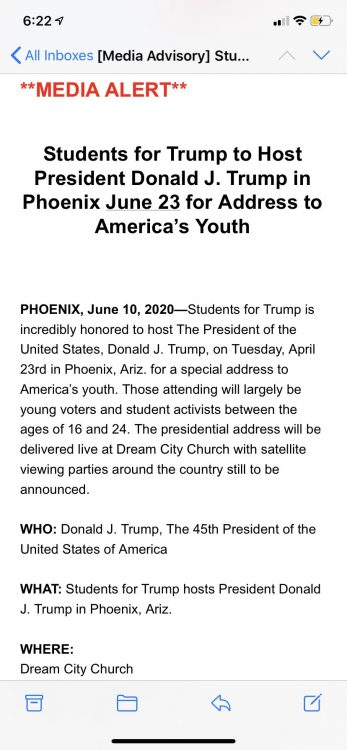 Students for Trump Rally