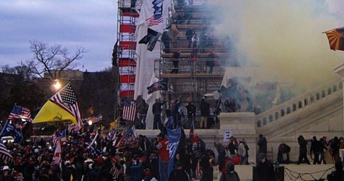 Picture of the Christian nationalist-fueled Capitol Hill Riot